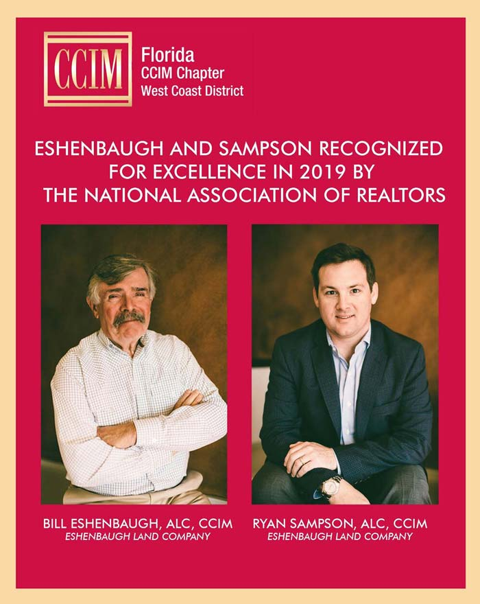CCIM excellence award for Bill Eshenbaugh and Ryan Sampson